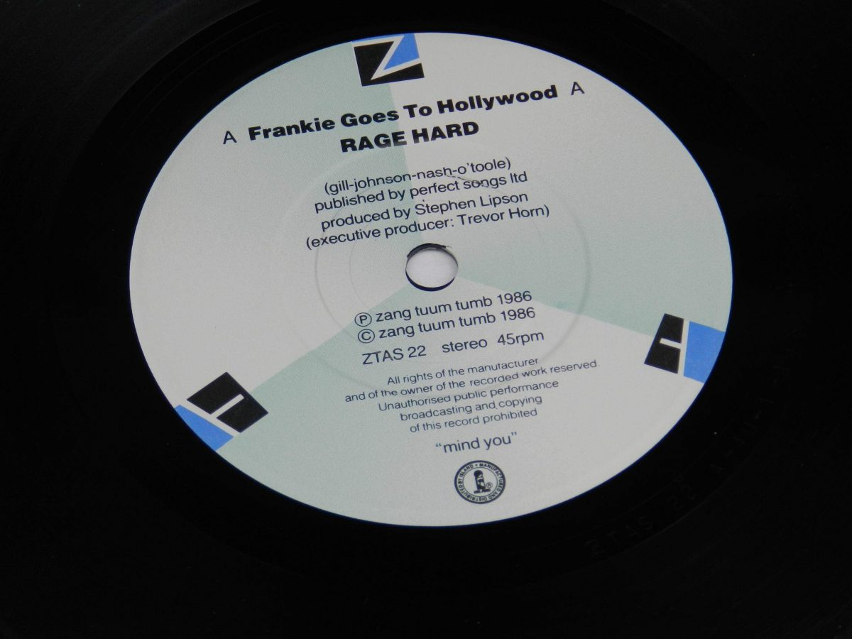 Frankie Goes To Hollywood – Rage Hard vinyl record side A label scaled