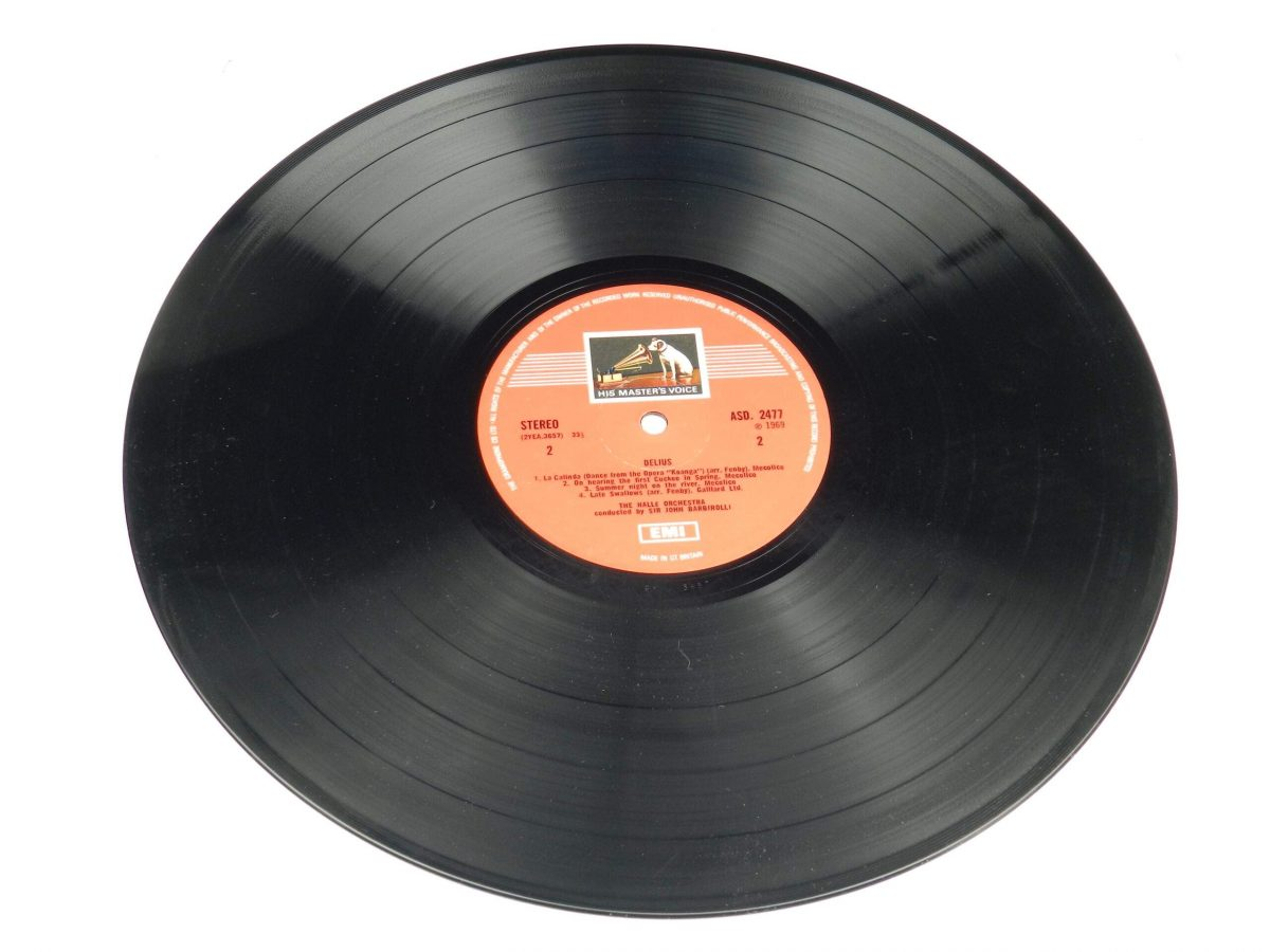Frederick Delius Sir John Barbirolli Conducting The Halle Orchestra – In A Summer Garden Music Of Frederick Delius vinyl record side B scaled