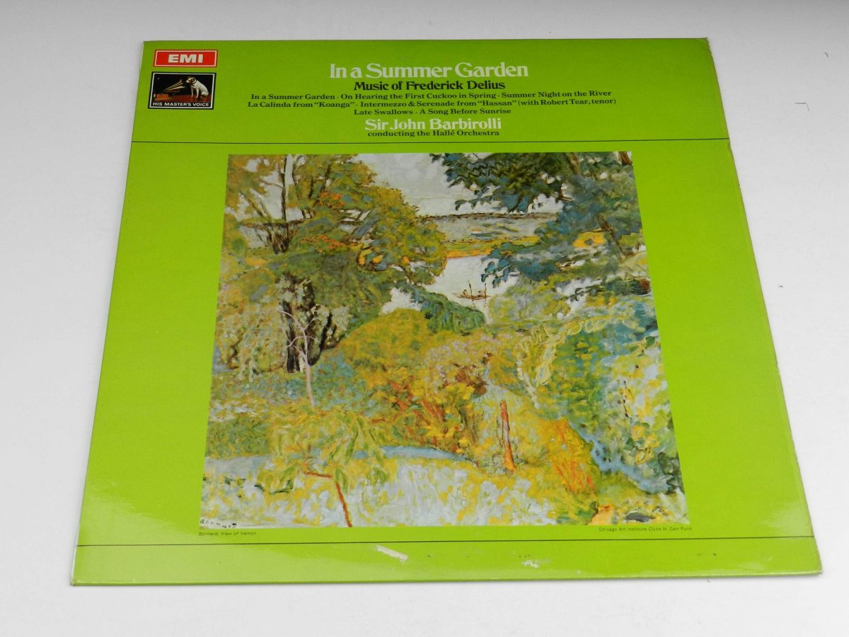 Frederick Delius Sir John Barbirolli Conducting The Halle Orchestra – In A Summer Garden Music Of Frederick Delius vinyl record sleeve scaled
