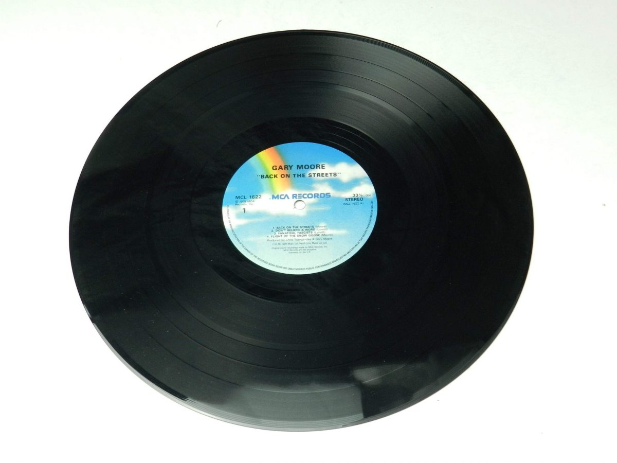 Gary Moore – Back On The Streets vinyl record side A scaled
