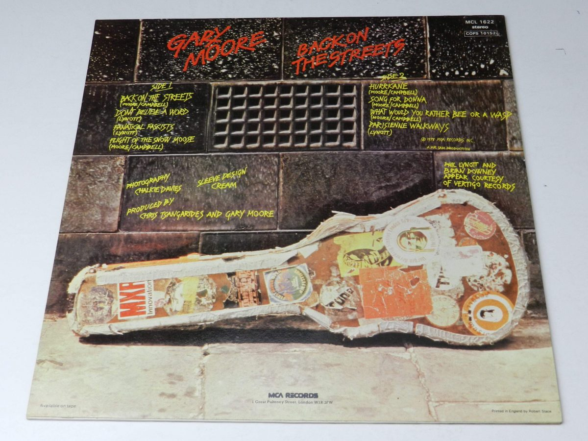 Gary Moore – Back On The Streets vinyl sleeve rear scaled
