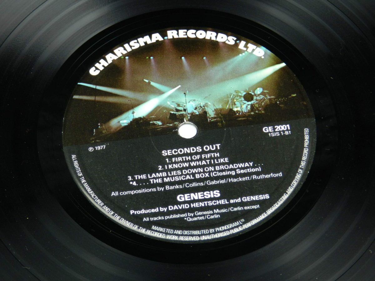 Genesis – Seconds Out vinyl record 1 side B label scaled