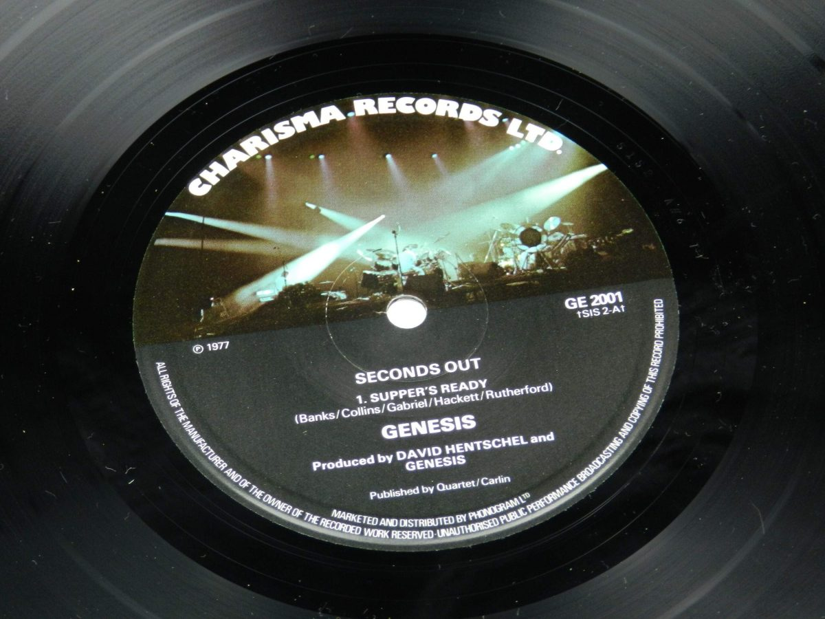 Genesis – Seconds Out vinyl record 2 side A label scaled