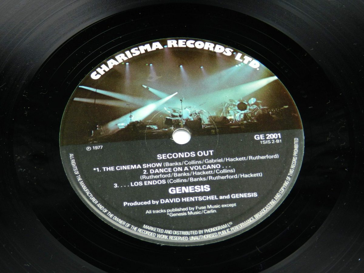 Genesis – Seconds Out vinyl record 2 side B label scaled