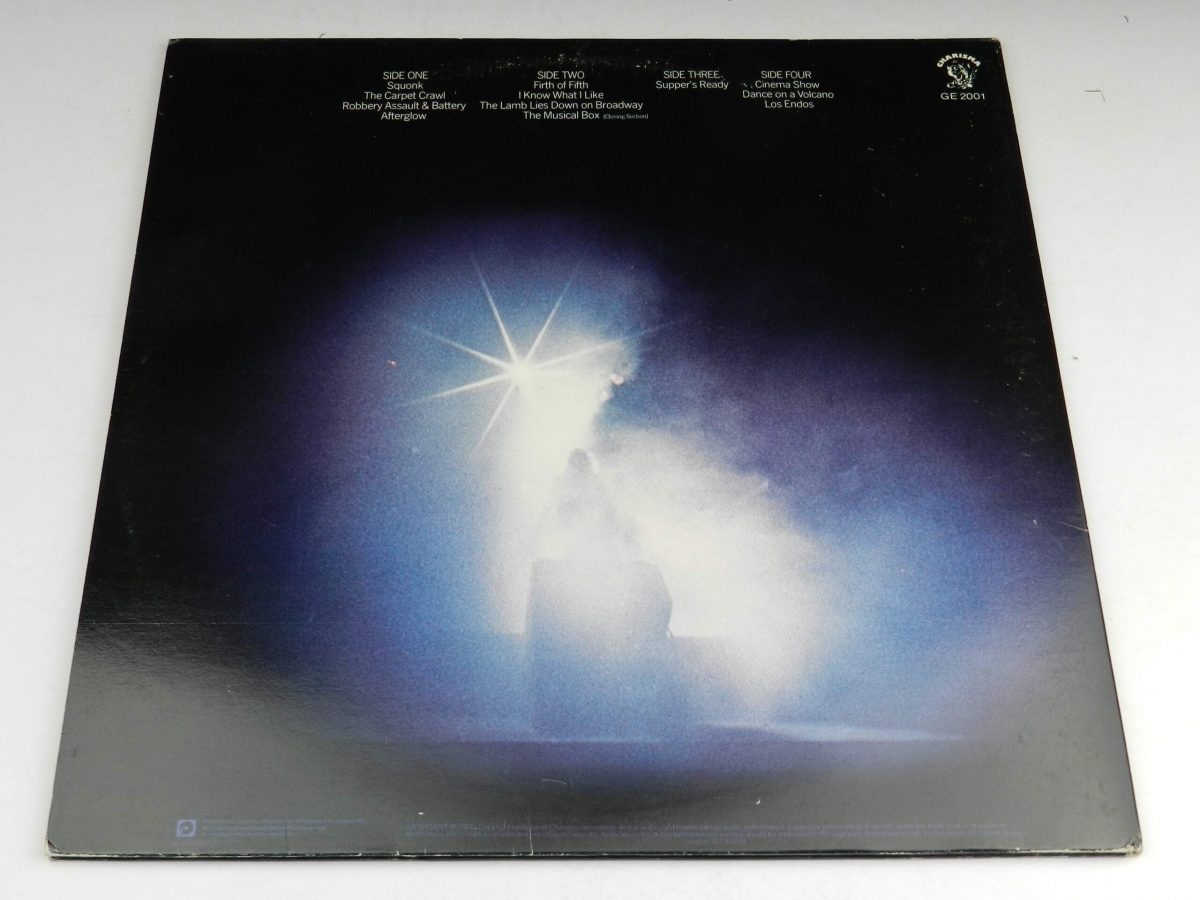 Genesis – Seconds Out vinyl record sleeve rear scaled