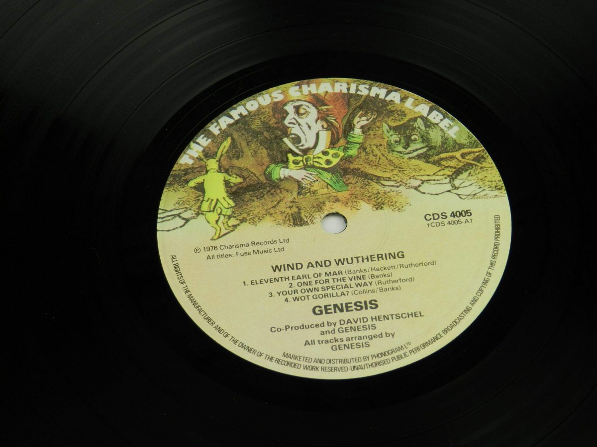 Genesis – Wind and Wuthering vinyl record side A label scaled