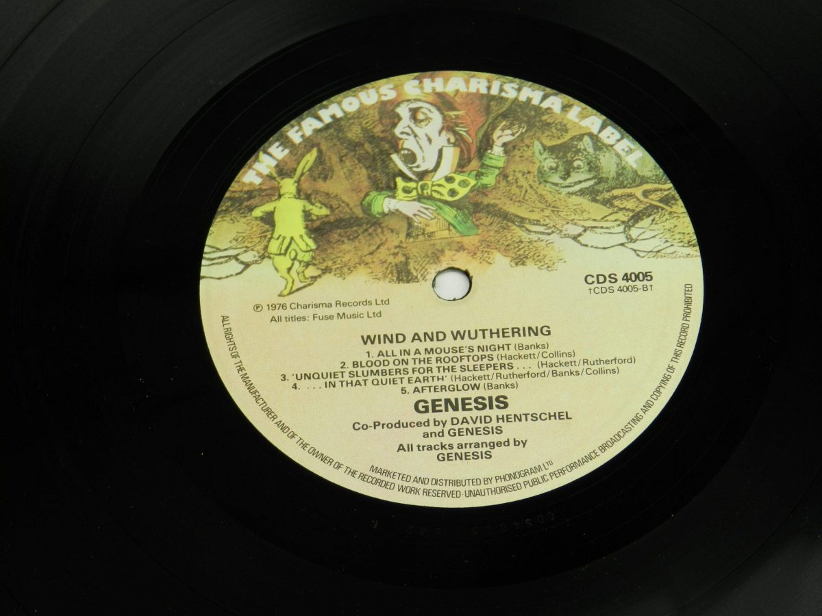 Genesis – Wind and Wuthering vinyl record side B label scaled