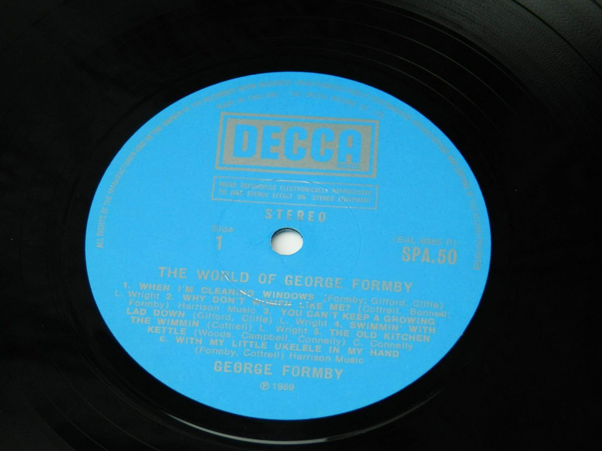 George Formby – The World Of George Formby vinyl record side A label scaled