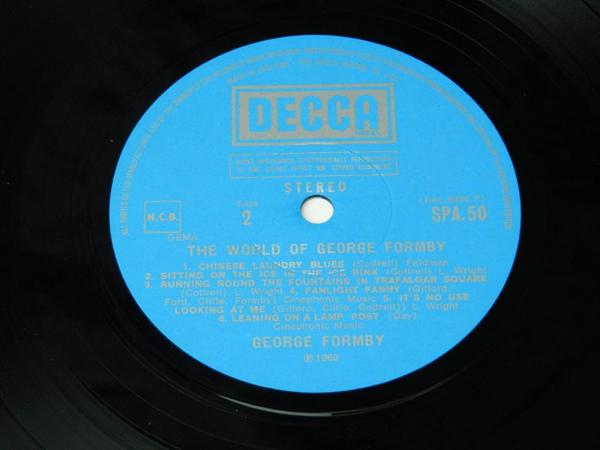 George Formby – The World Of George Formby vinyl record side B label scaled