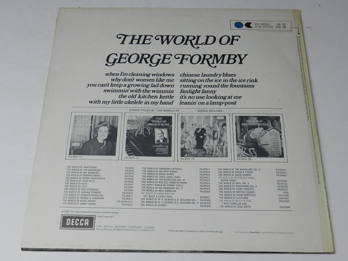 George Formby – The World Of George Formby vinyl record sleeve rear scaled