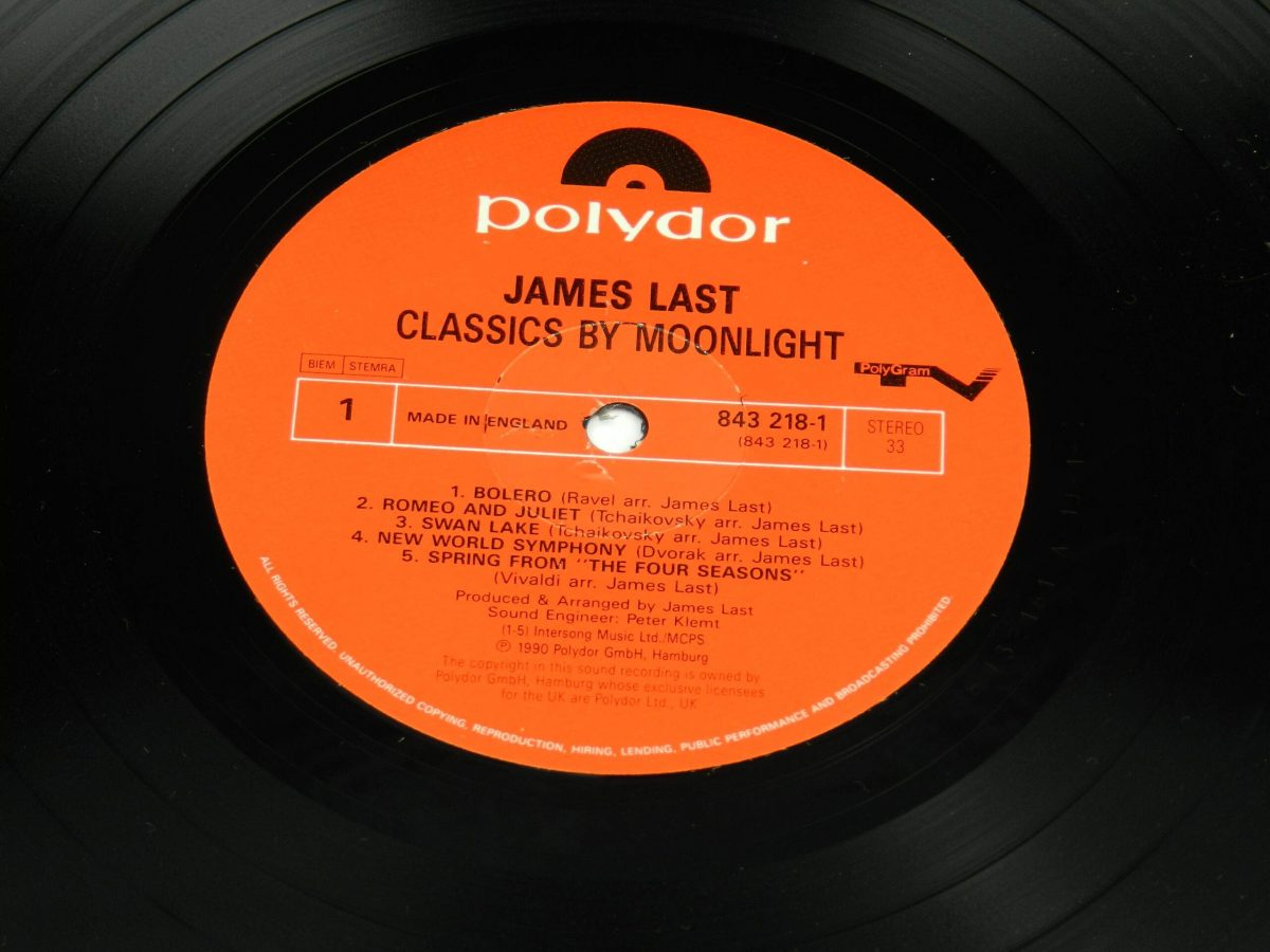 James Last – Classics By Moonlight vinyl record side A label scaled
