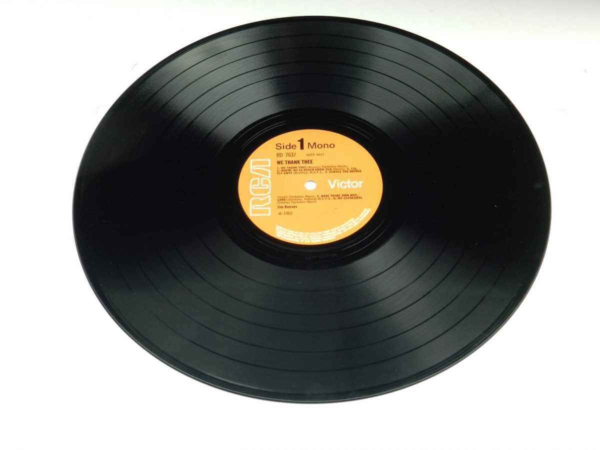 Jim Reeves – We Thank Thee vinyl record side A scaled