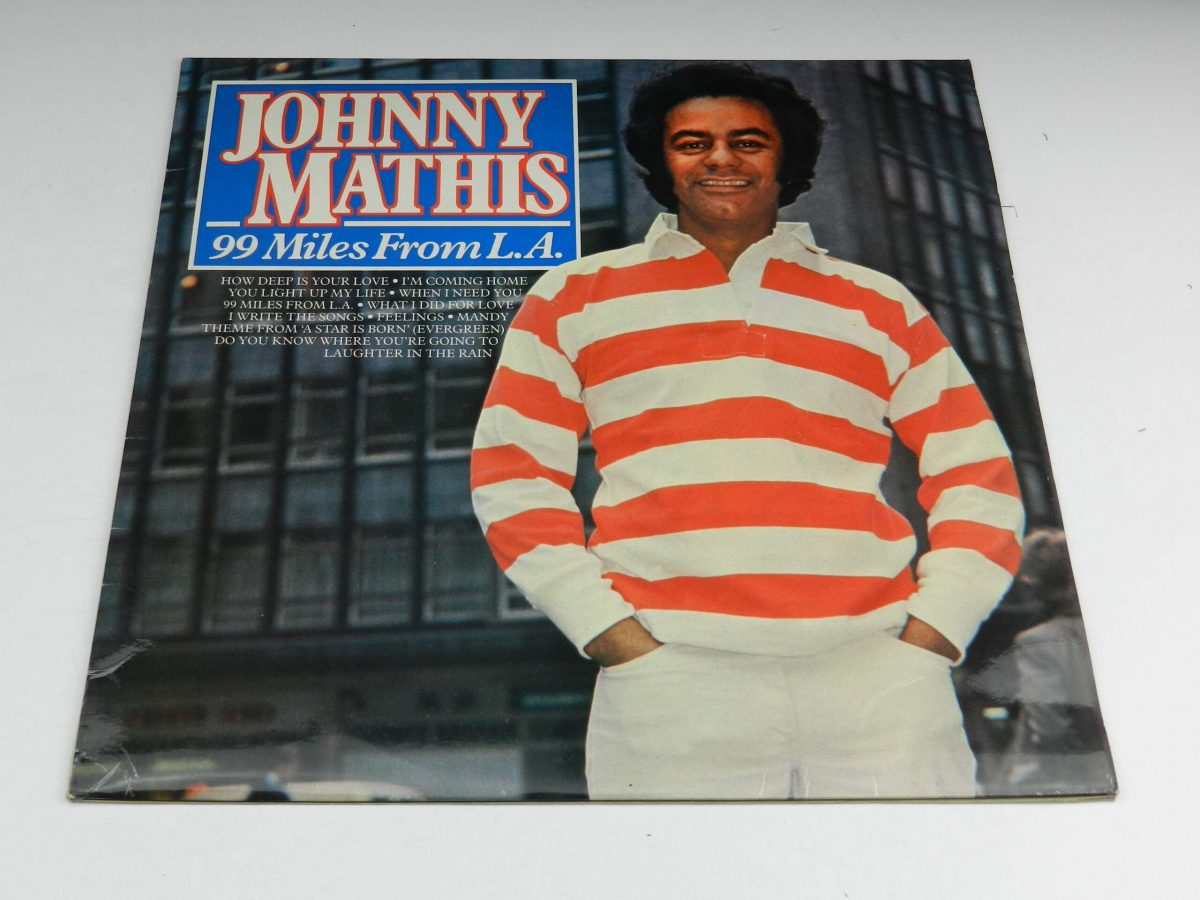 Johnny Mathis – 99 Miles From LA vinyl record sleeve scaled