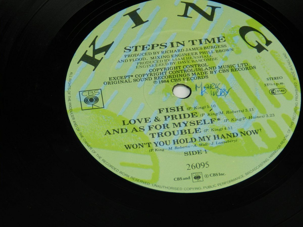 King – Steps In Time vinyl record side A label scaled