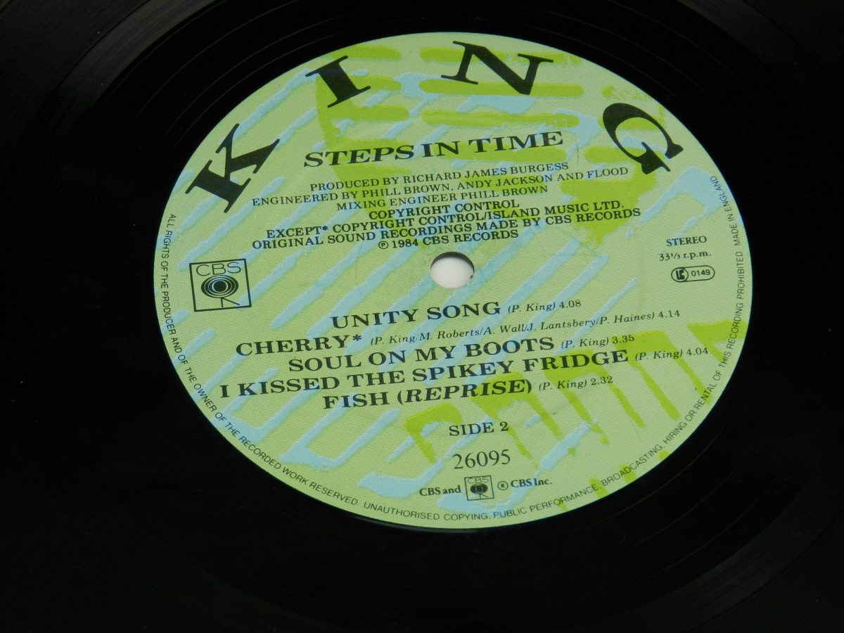 King – Steps In Time vinyl record side B label scaled