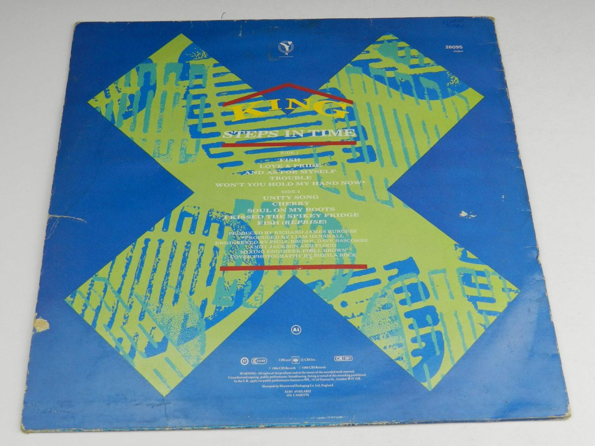 King – Steps In Time vinyl record sleeve rear scaled