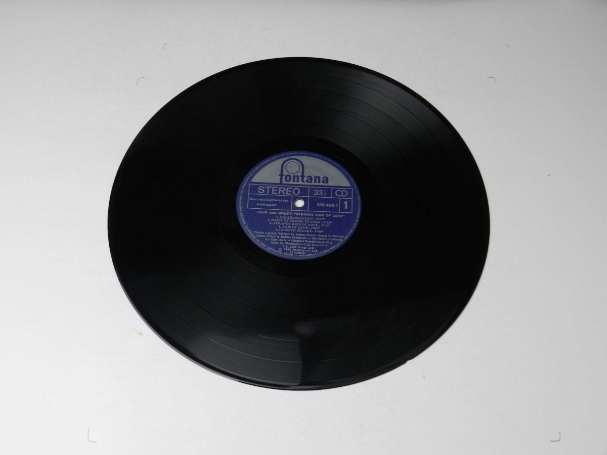 Love And Money – Strange Kind Of Love vinyl record side A scaled