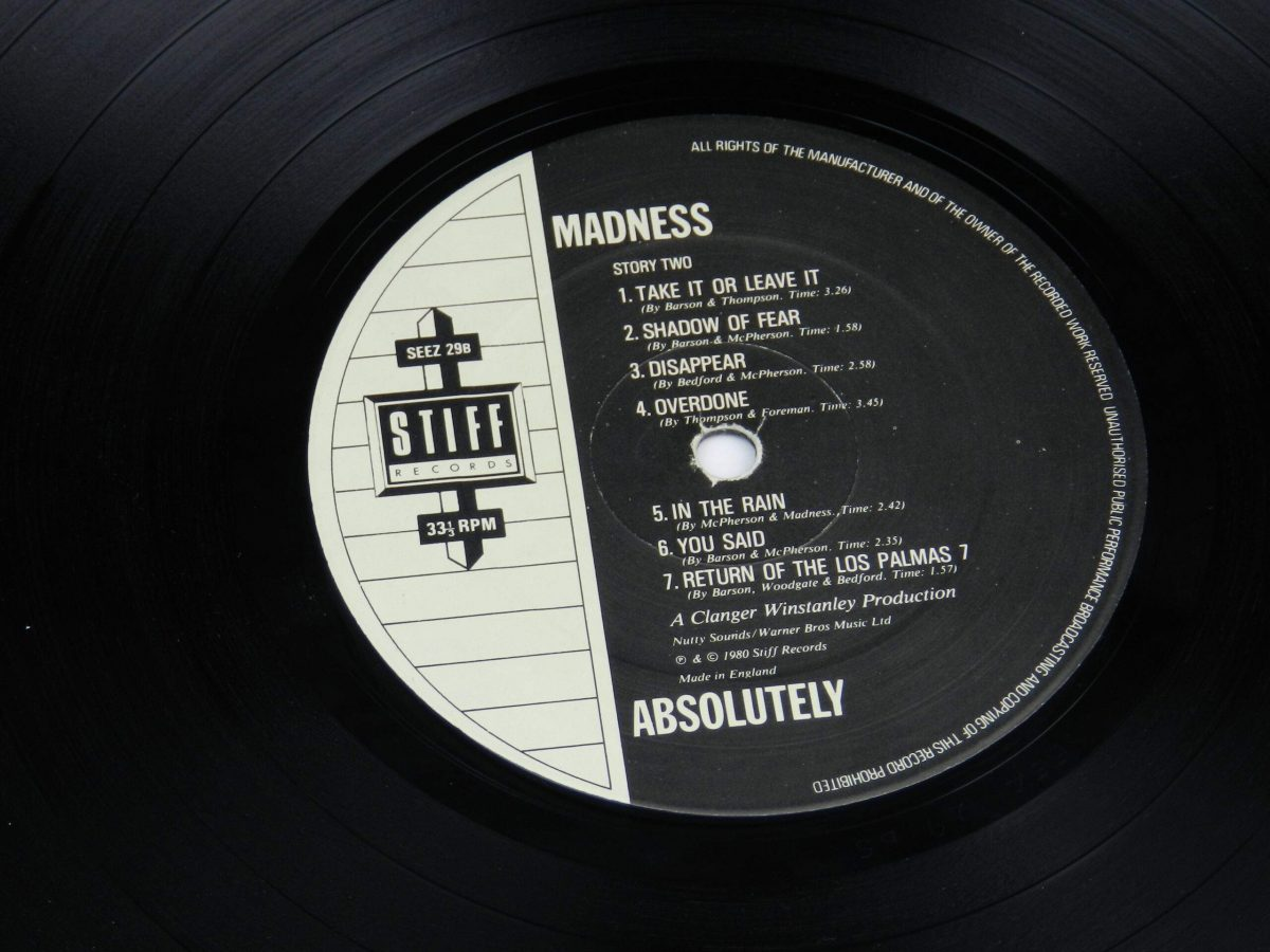 Madness – Absolutely vinyl record side B label scaled
