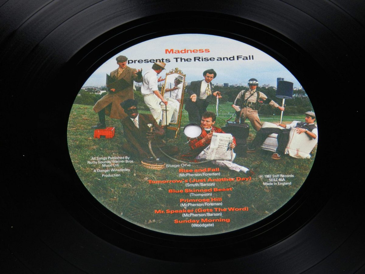 Madness – The Rise and Fall vinyl record side A label scaled