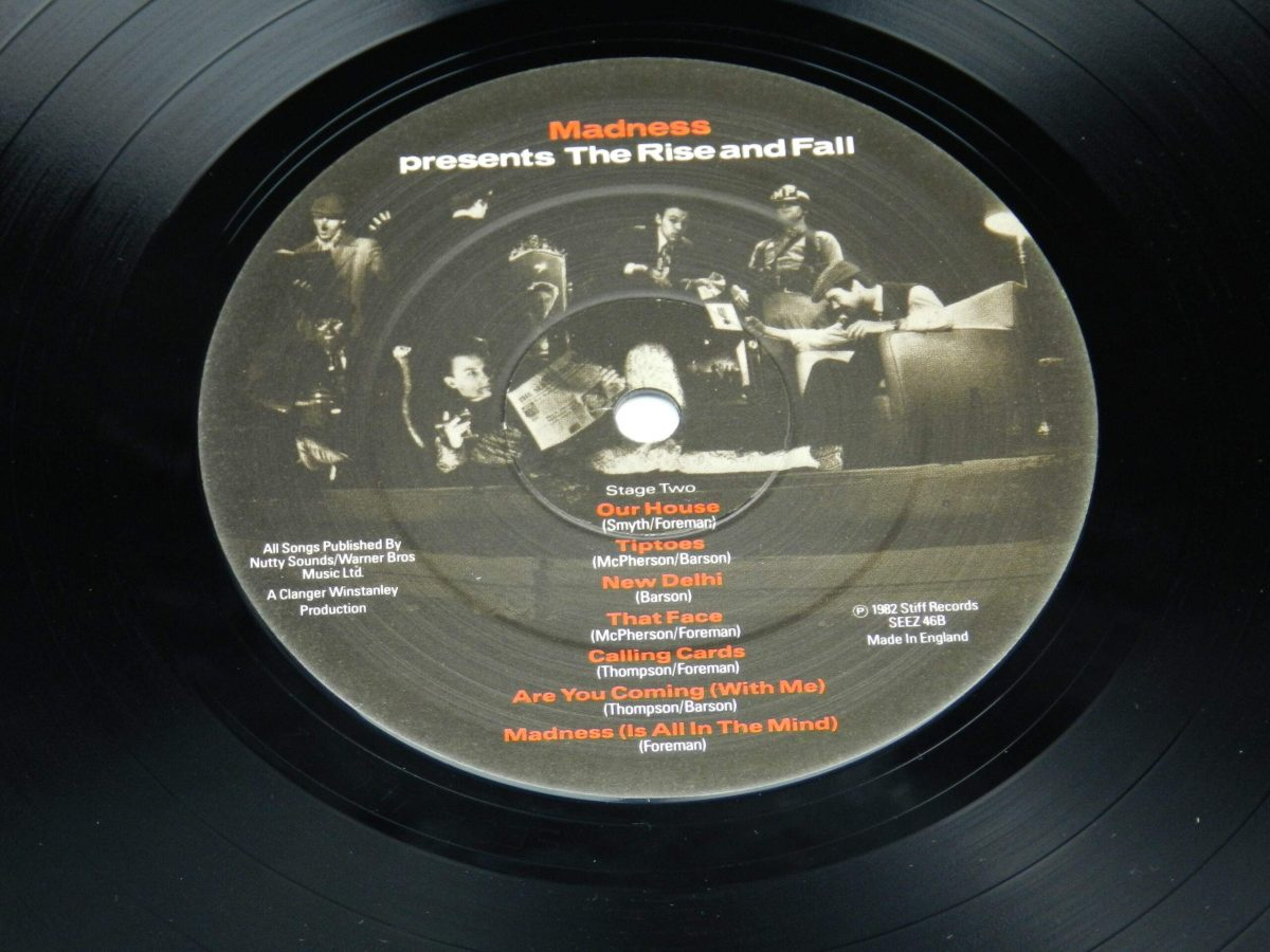 Madness – The Rise and Fall vinyl record side B label scaled