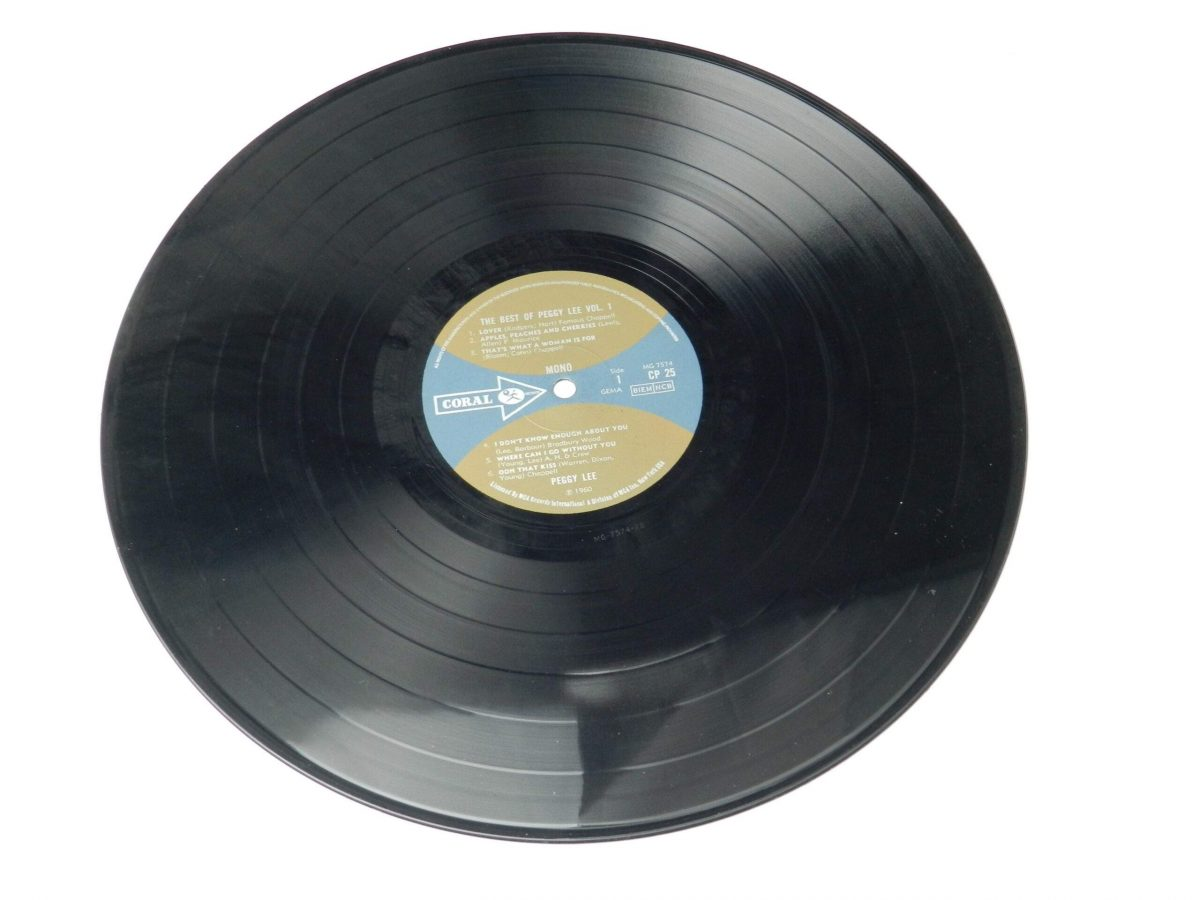 Peggy Lee – The Best Of Peggy Lee vinyl record side A scaled