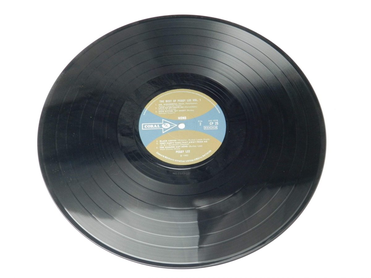 Peggy Lee – The Best Of Peggy Lee vinyl record side B scaled
