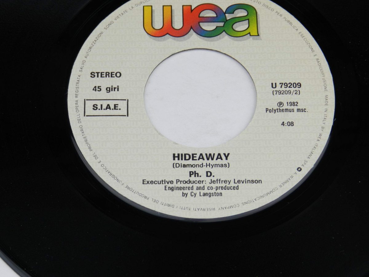 Ph.D. – I Won t Let You Down vinyl record side B label scaled