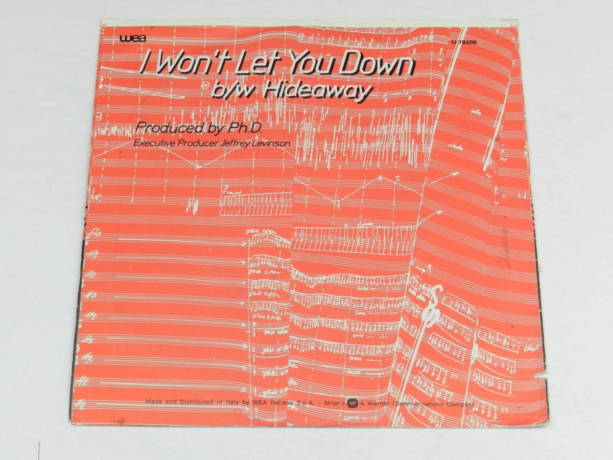 Ph.D. – I Won t Let You Down vinyl record sleeve rear scaled