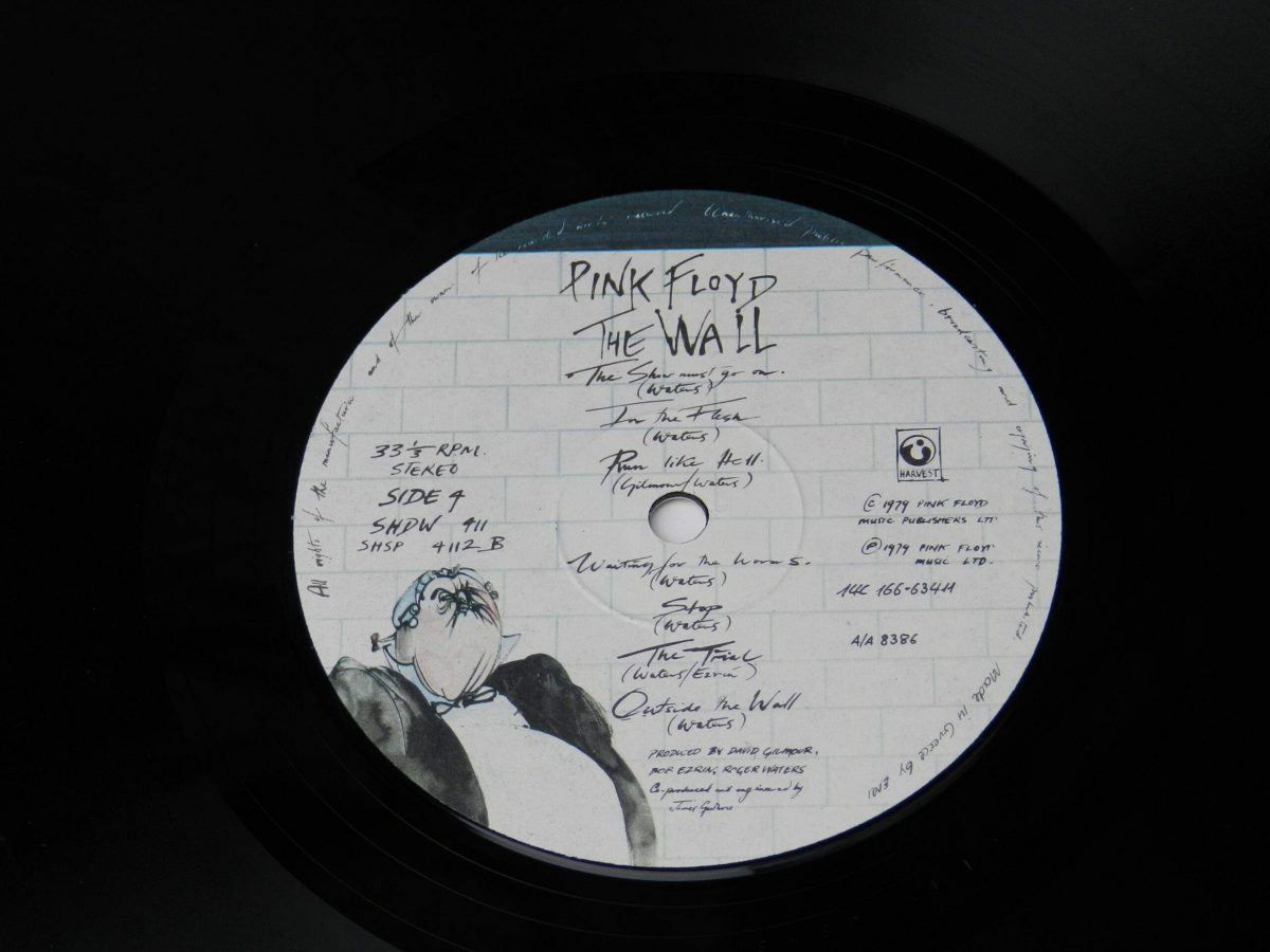 Pink Floyd – The Wall vinyl record 2 side B label scaled