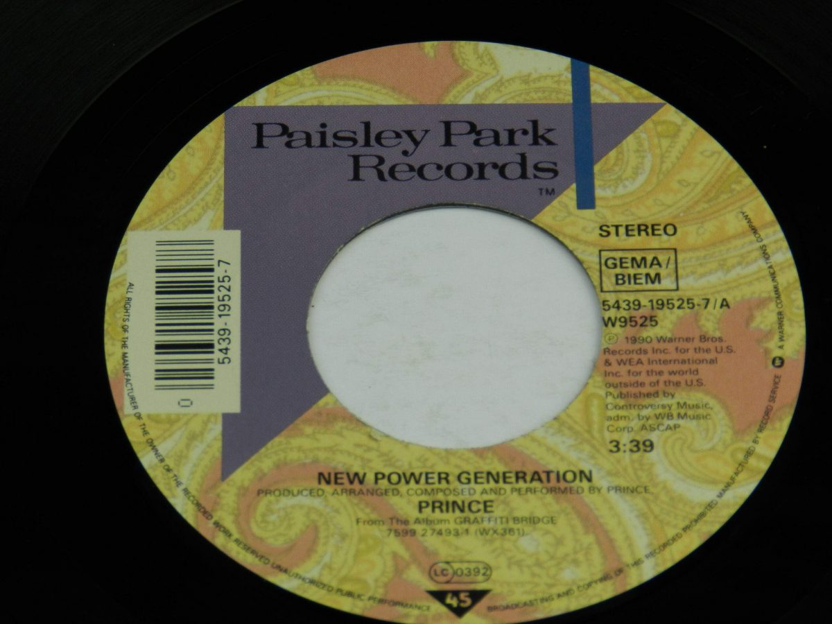 Prince – New Power Generation vinyl record side A label scaled