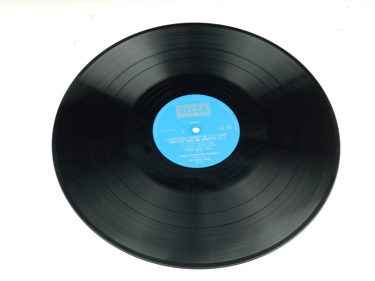 Rachmaninov Peter Katin – Piano Concertos 1 And 2 vinyl record side B scaled