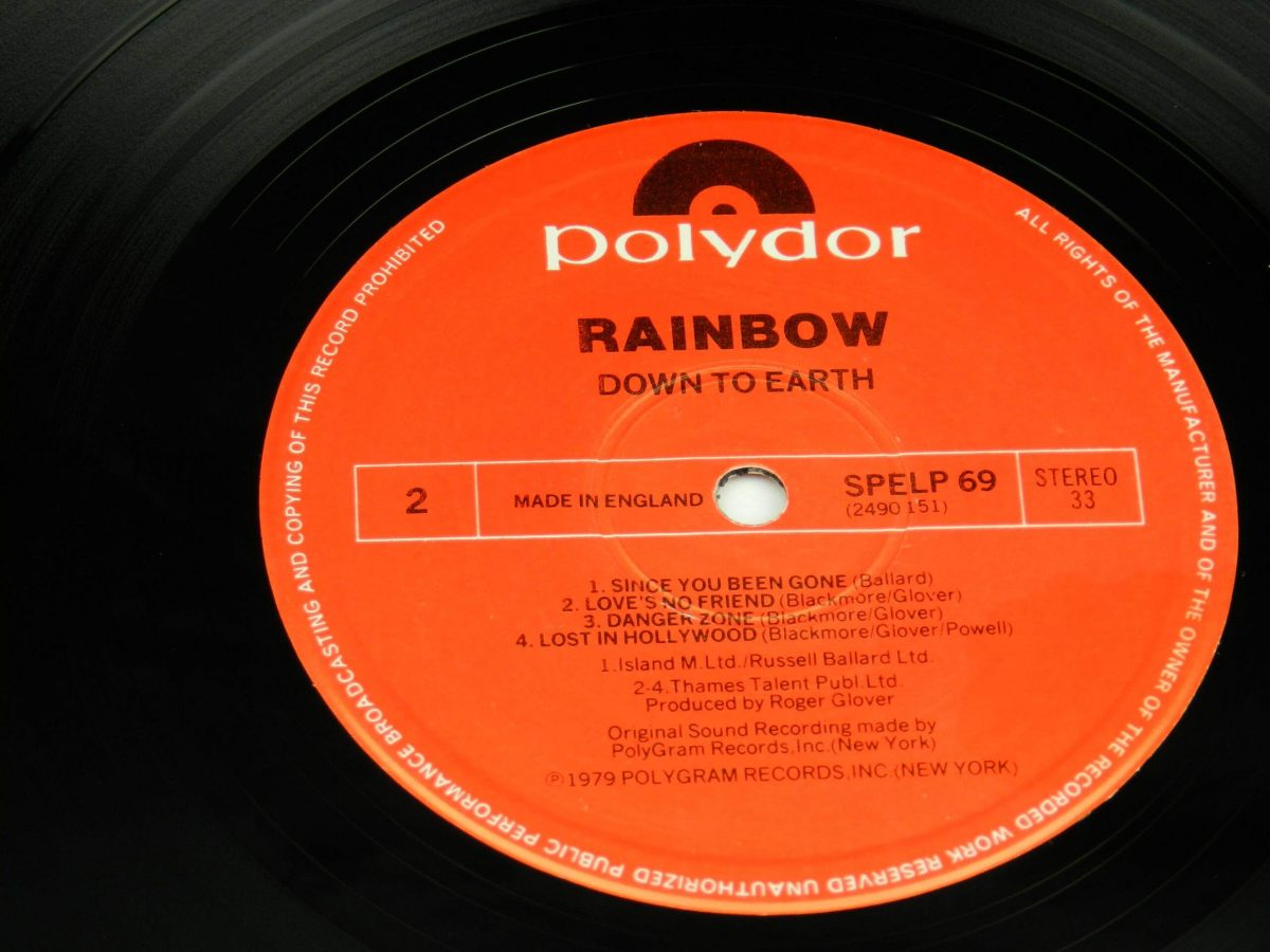 Rainbow – Down To Earth vinyl record side B label scaled