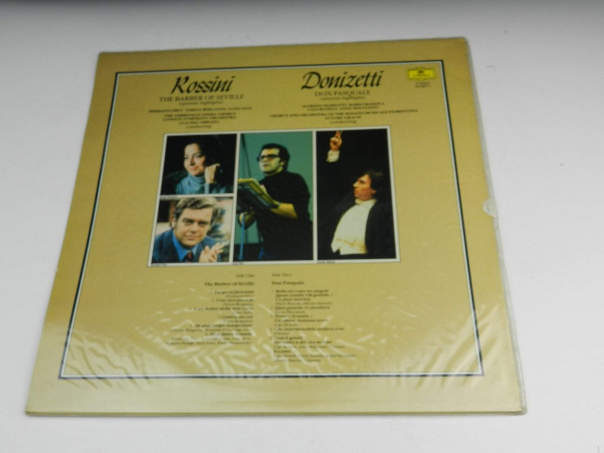 Rossini Donizetti – The Barber Of Seville Don Pasquale vinyl record sleeve rear scaled