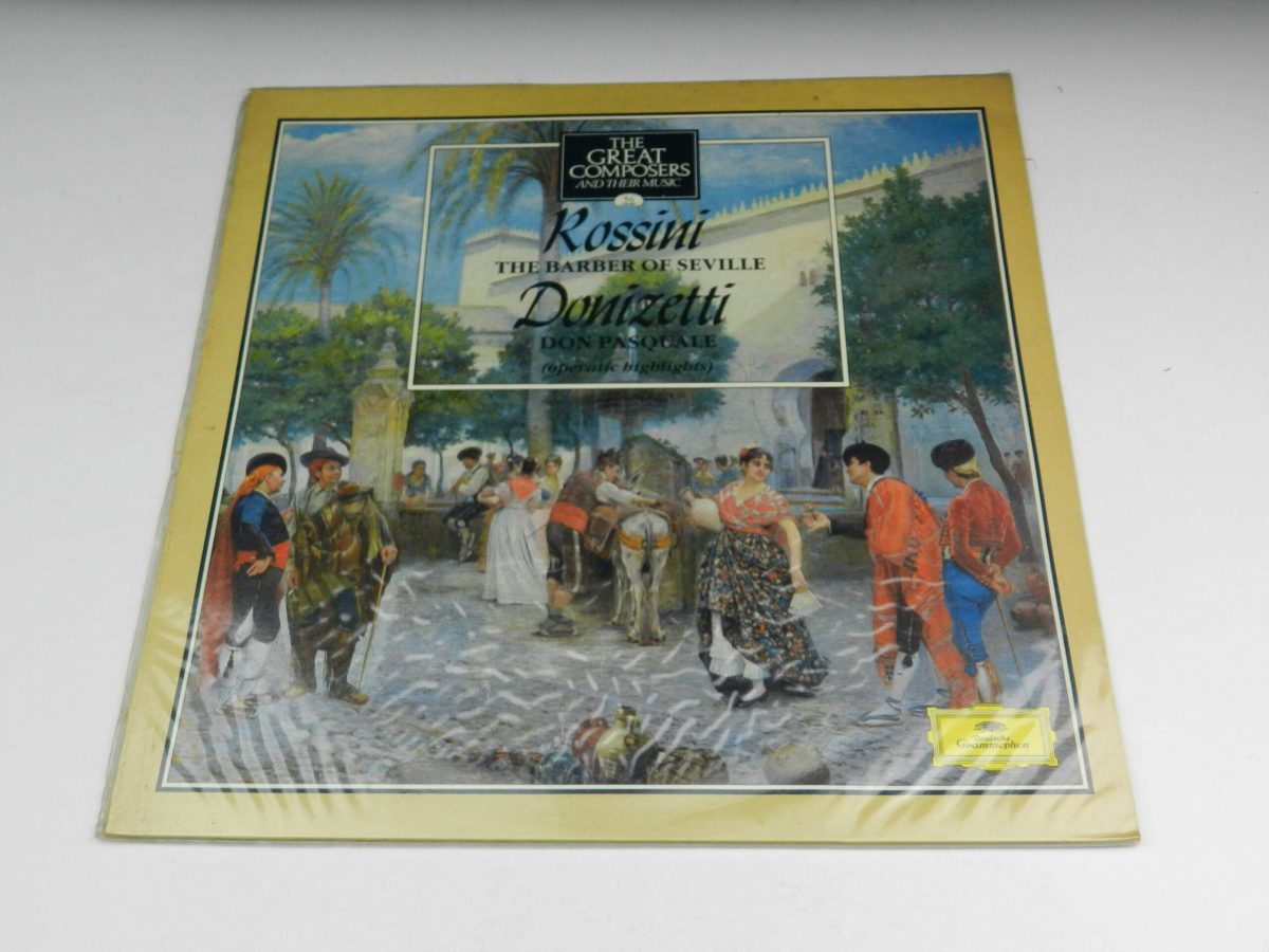 Rossini Donizetti – The Barber Of Seville Don Pasquale vinyl record sleeve scaled