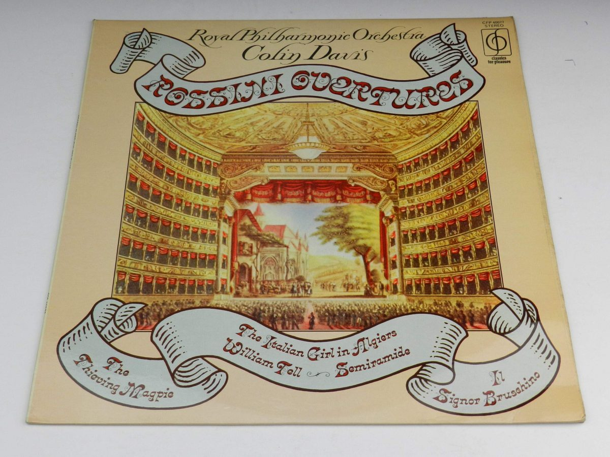 Royal Philharmonic Orchestra Colin Davis – Rossini Overtures vinyl record sleeve scaled
