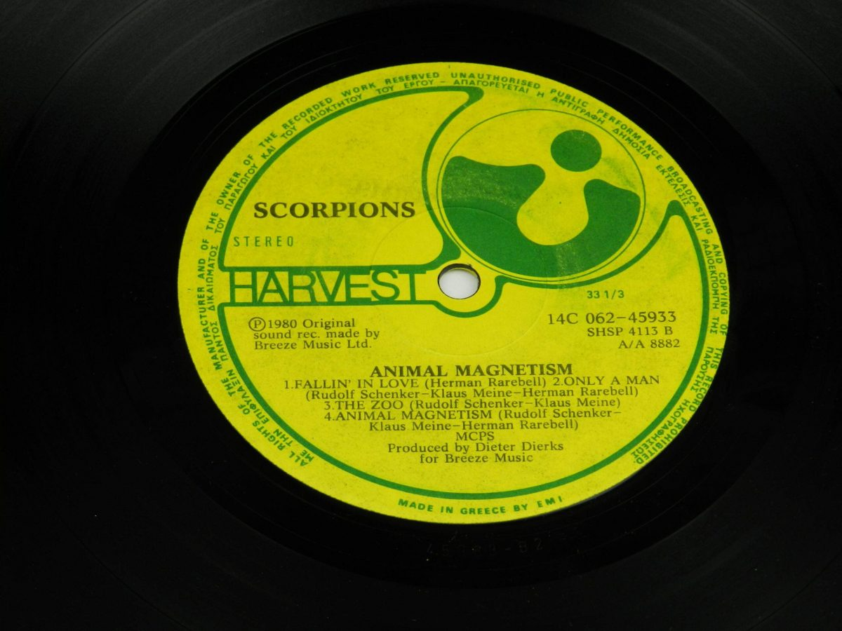 Scorpions – Animal Magnetism vinyl record side B label scaled