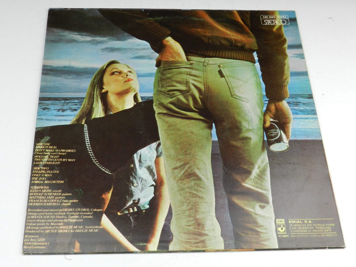 Scorpions – Animal Magnetism vinyl record sleeve rear scaled