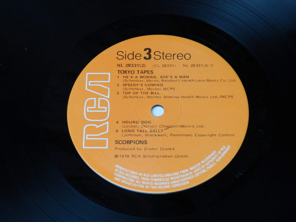 Scorpions – Tokyo Tapes vinyl record 2 side A label scaled