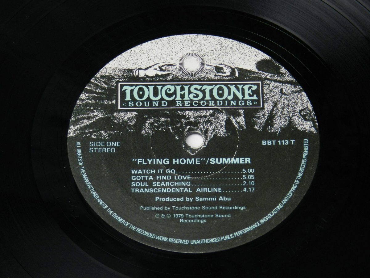 Summer – Flying Home vinyl record side A label 1 scaled