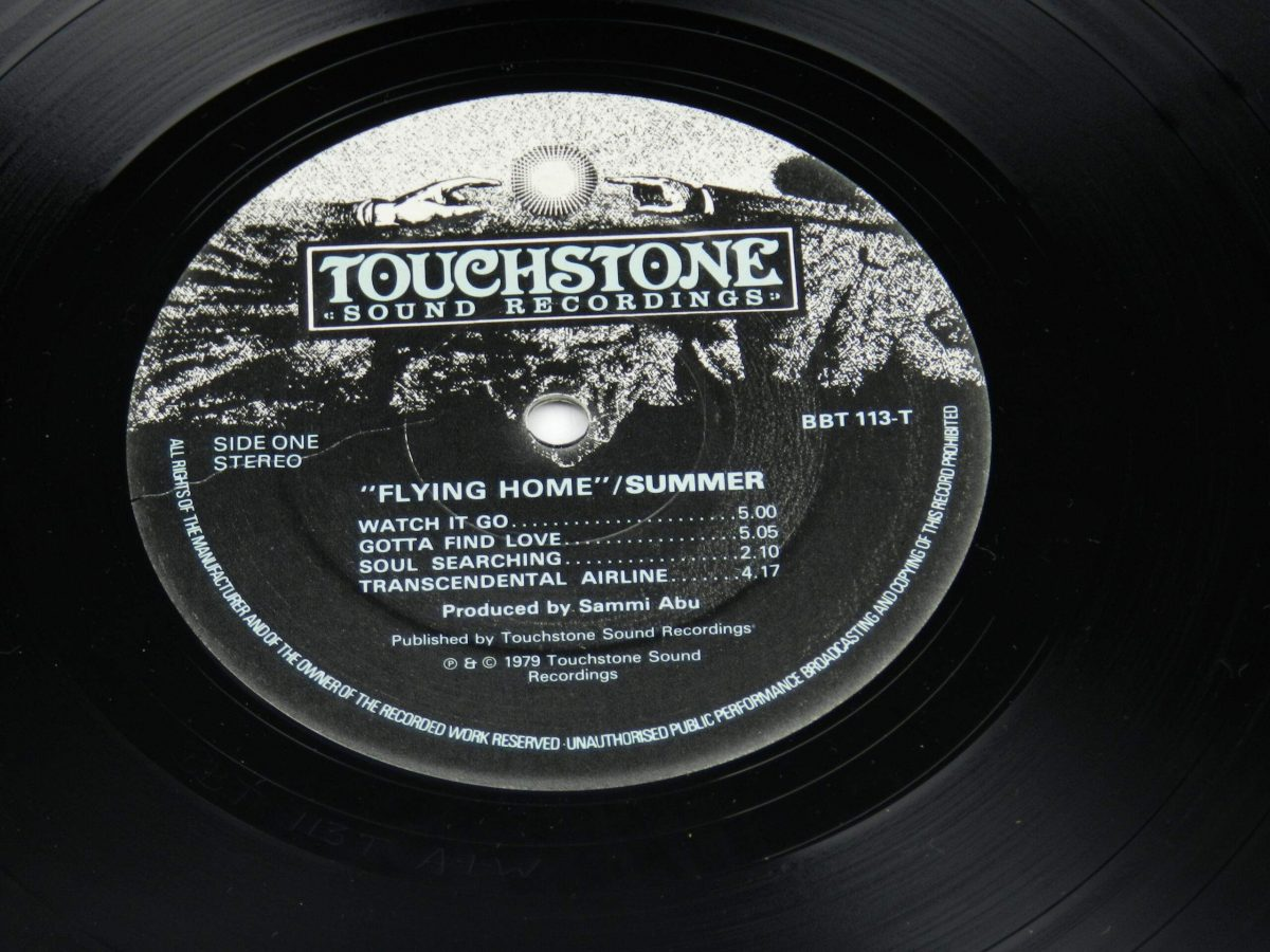 Summer – Flying Home vinyl record side A label scaled