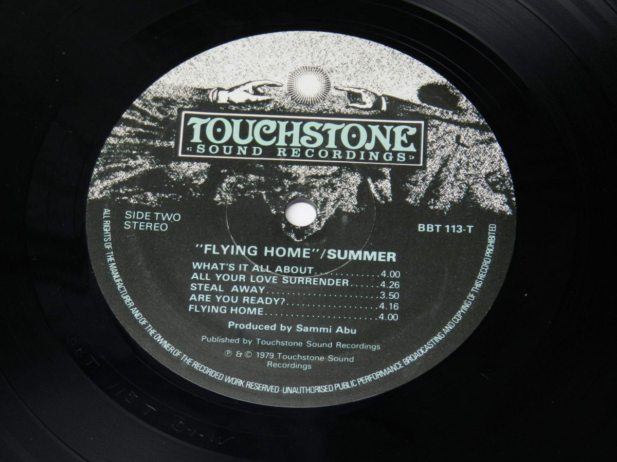 Summer – Flying Home vinyl record side B label 1 scaled