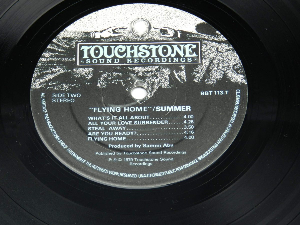 Summer – Flying Home vinyl record side B label scaled