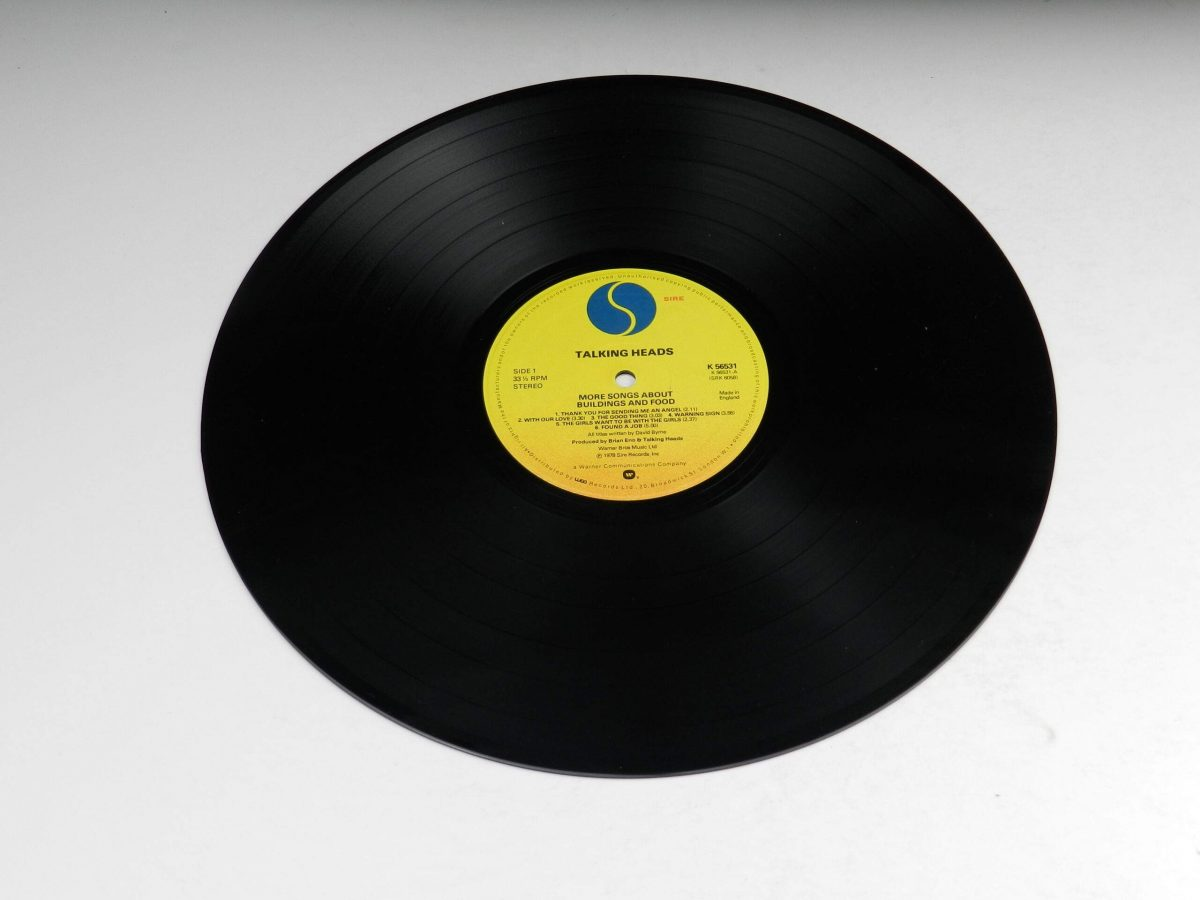 Talking Heads – More Songs About Buildings And Food vinyl record side A scaled