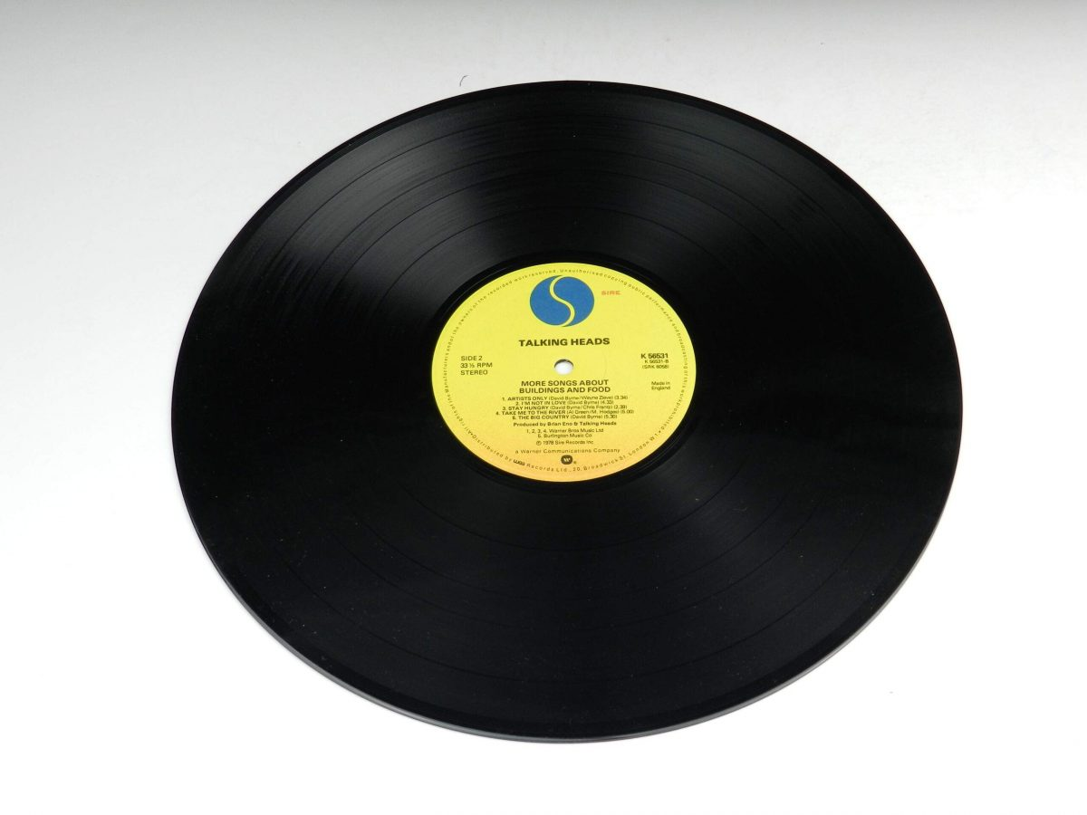 Talking Heads – More Songs About Buildings And Food vinyl record side B scaled