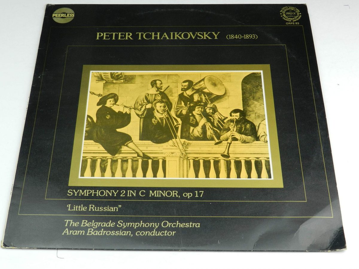 Tchaikovsky Belgrade Symphony Orchestra conducted by Badrossian – Symphony 2 in C Minor op 17 Little Russian vinyl record sleeve scaled