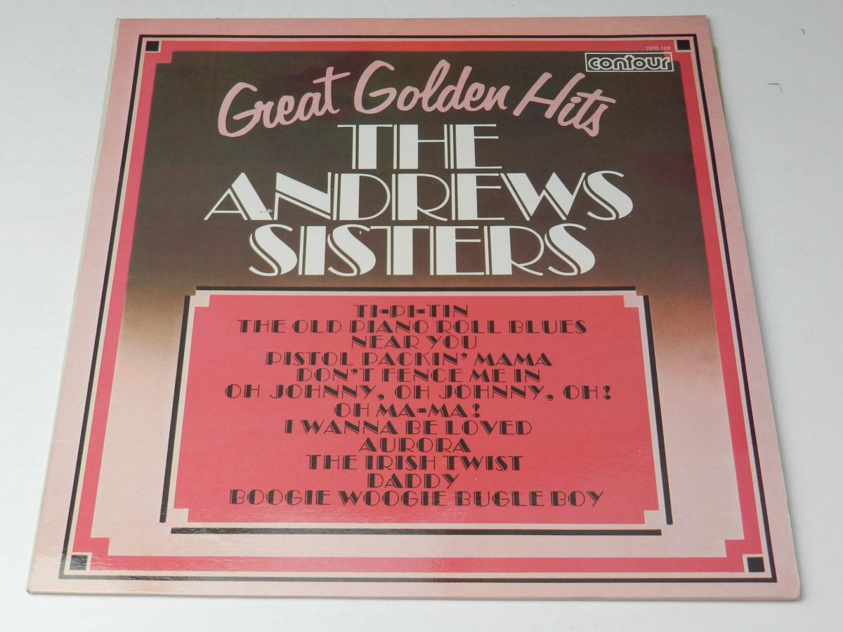 The Andrews Sisters – Great Golden Hits vinyl record sleeve scaled