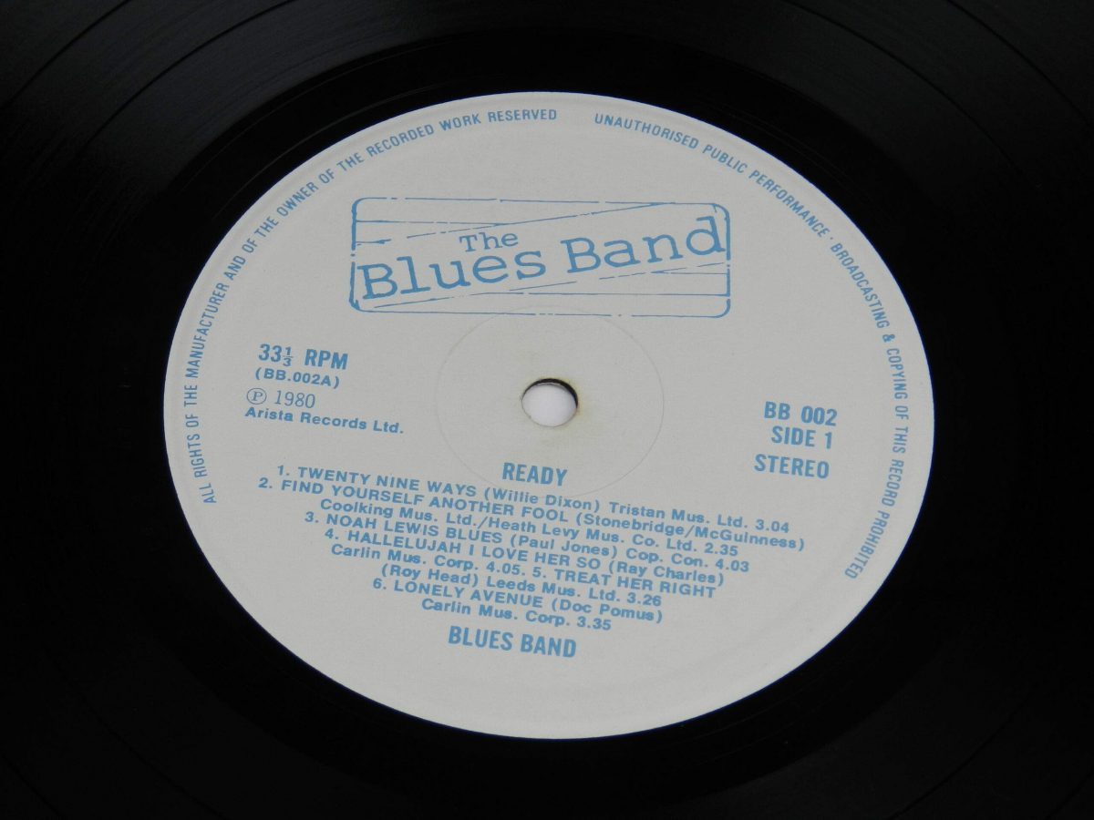 The Blues Band – Ready vinyl record side A label scaled