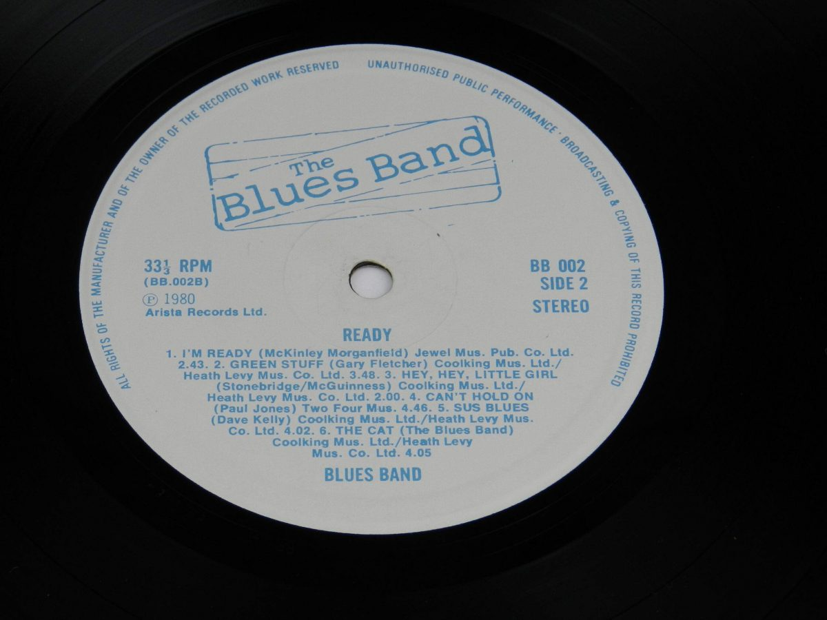 The Blues Band – Ready vinyl record side B label scaled
