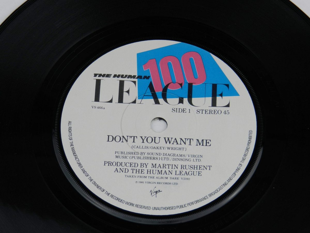 The Human League – Dont You Want Me vinyl record side A label scaled