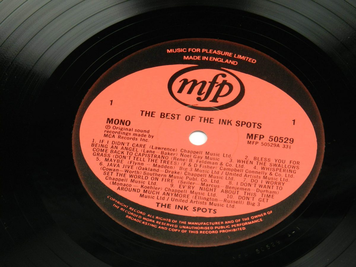 The Ink Spots – The Best Of The Ink Spots 20 Classic Tracks vinyl record side A label scaled